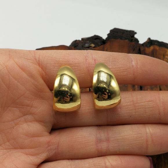 Vintage Jewelry - Vintage 90s gypsy minimal dainty hoop ring crest